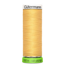 Load image into Gallery viewer, 100 m Reel Gütermann Recycled Sew-All Thread in Mustard Yellow no.415