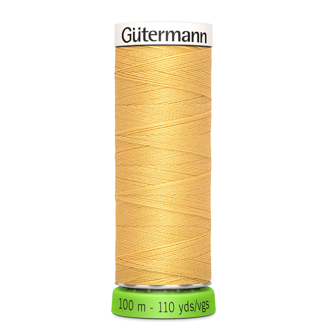 100 m Reel Gütermann Recycled Sew-All Thread in Mustard Yellow no.415