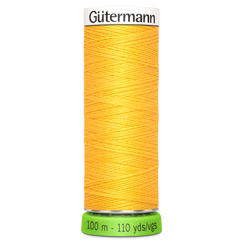 100 m Reel Gütermann Recycled Sew-All Thread in Bright Yellow no. 417