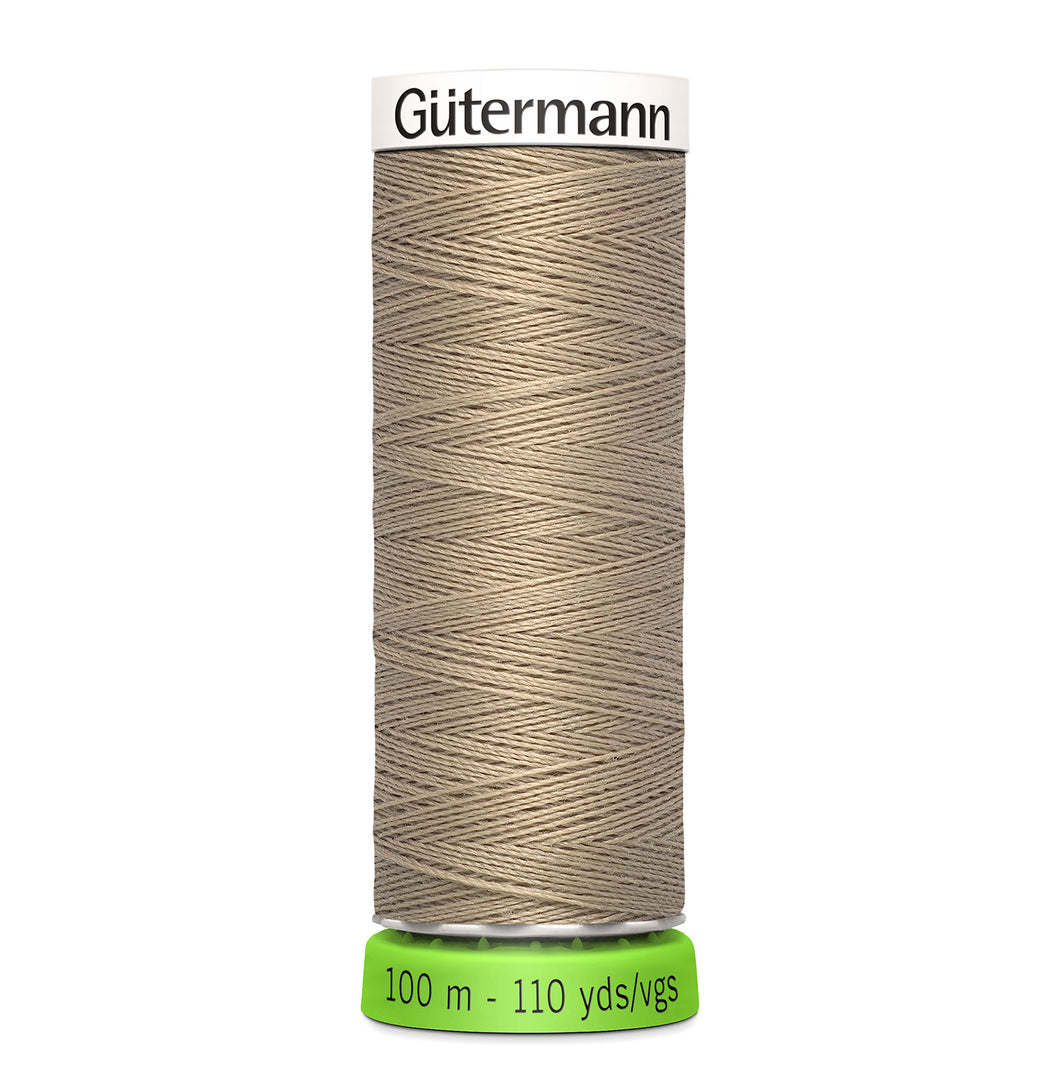 100 m Reel Gütermann Recycled Sew-All Thread in Taupe no. 464
