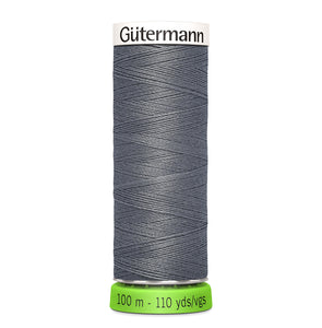 100 m Reel Gütermann Recycled Sew-All Thread in Grey, no. 497