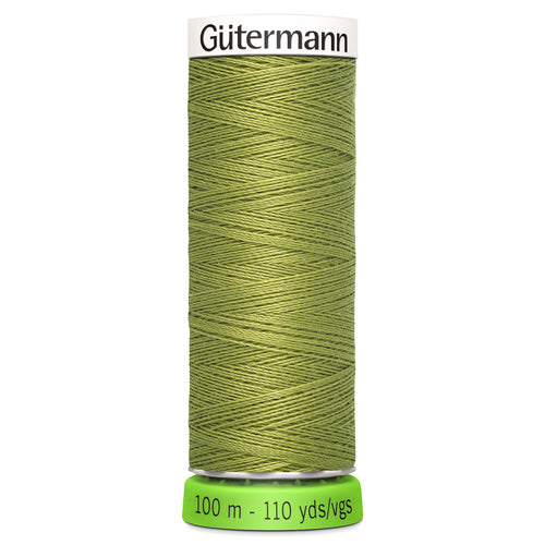 100 m Reel Gütermann Recycled Sew-All Thread in Lime Green no. 582