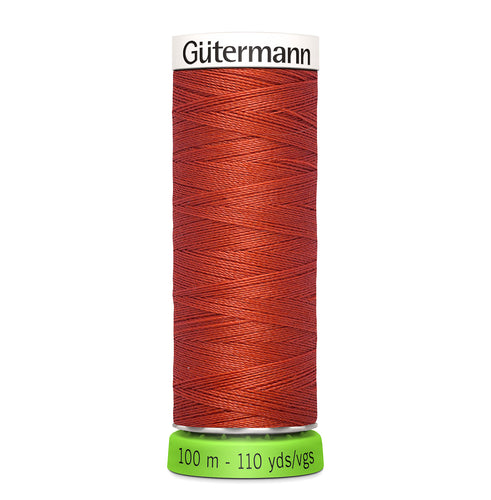 100 m Reel Gütermann Recycled Sew-All Thread in Brick Red no. 589