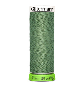100 m Reel Gütermann Recycled Sew-All Thread in Minty Pea Green no. 821