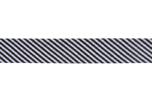 20 mm Cotton Bias Binding in Black and White Candy Stripe