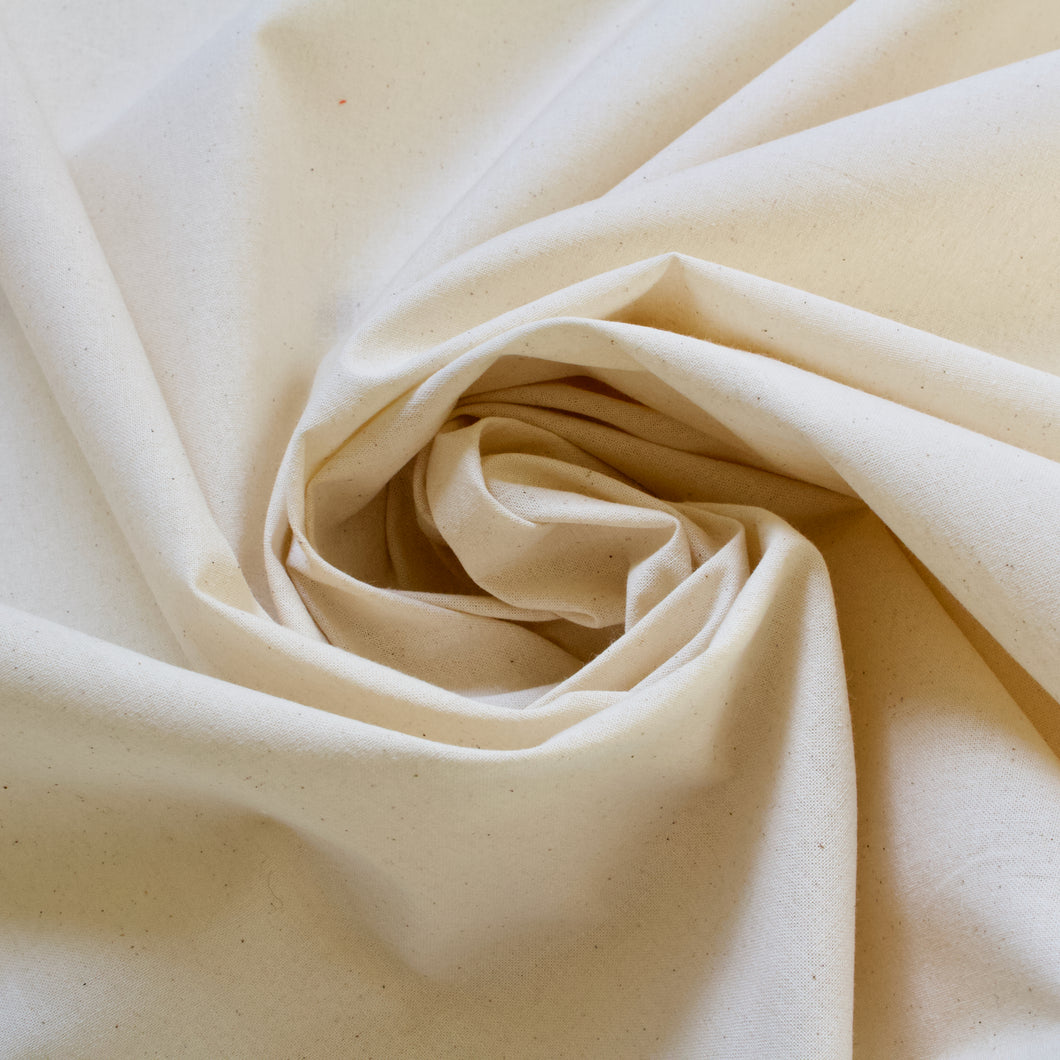 Organic Cotton Calico Fabric, Untreated & Unfinished