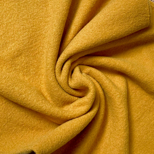 Boiled Wool Coating in Mustard Yellow