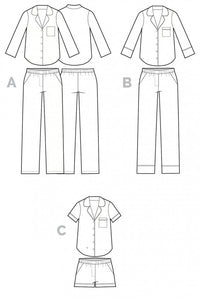 Closet Core Patterns: Carolyn Pajamas