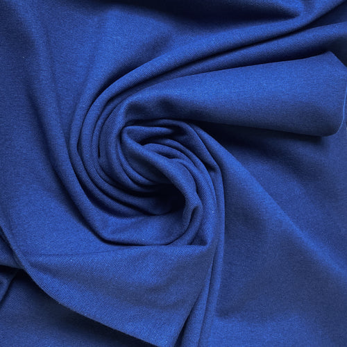 Cotton Jersey Tubular Ribbing in Dark Blue