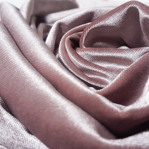 Stretch Velour in Dusky Pink