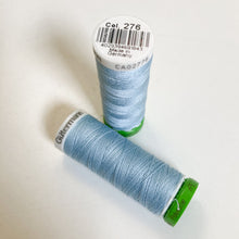 Load image into Gallery viewer, 100 m Reel Gütermann Recycled Sew-All Thread in sky blue, no. 276
