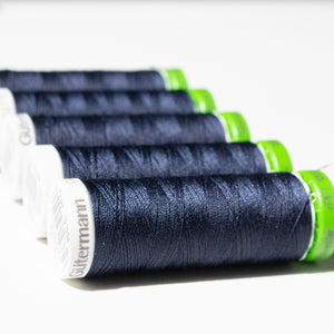 100m Reel Gütermann Recycled Sew-All Thread in Navy Blue 339