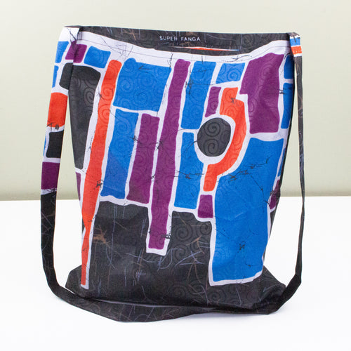 African Wax Shopper Bag - Cross Body Style