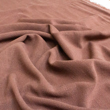 Load image into Gallery viewer, Viscose-Linen Mix Slub Weave in Chocolate