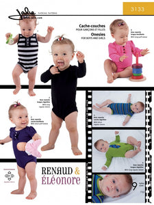 Jalie Sewing Patterns: Onesies for Boys and Girls 3133
