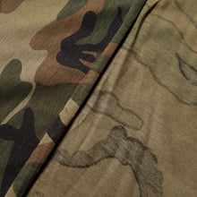 Load image into Gallery viewer, Cotton Single Jersey with Camouflage Print in Khaki and Brown