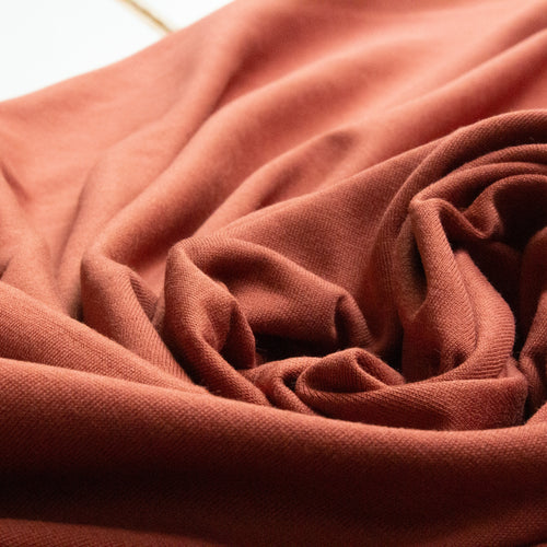 Organic Cotton Single Jersey in Cinnamon Brown