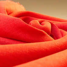 Load image into Gallery viewer, Linen-Viscose Mix Chambray in Tomato Red