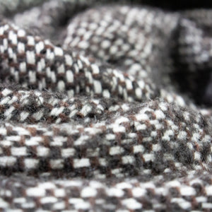 Wool Bouclé Tweed in Black, Brown and White