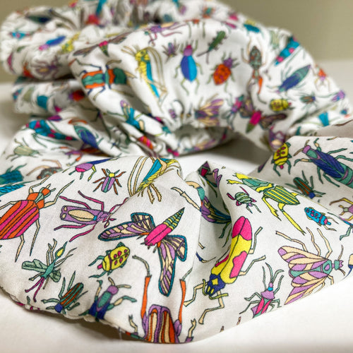 Large Insect Scrap Scrunchie made with Liberty Fabric