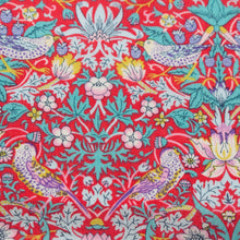 Load image into Gallery viewer, Liberty Tana Lawn 'Strawberry Thief' in Red
