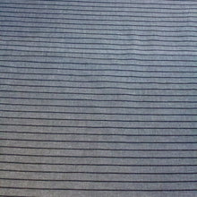 Load image into Gallery viewer, Organic Cotton Handwoven Crossweave Fabric in Grey with Raised Black Stripes