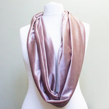 Load image into Gallery viewer, Dusky Pink Velvet Infinity Scarf