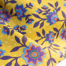Load image into Gallery viewer, Liberty Purple & Mustard Floral Print Infinity Scarf (Single Loop)