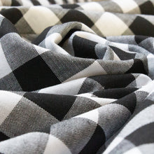 Load image into Gallery viewer, Cotton Gingham in Black and White 2 cm Check