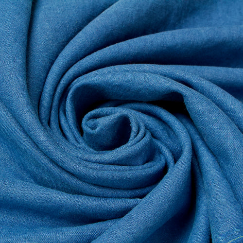 95 cm Piece Washed Linen in Blue