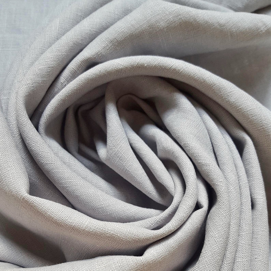 90 cm Piece Washed Linen in Light Grey