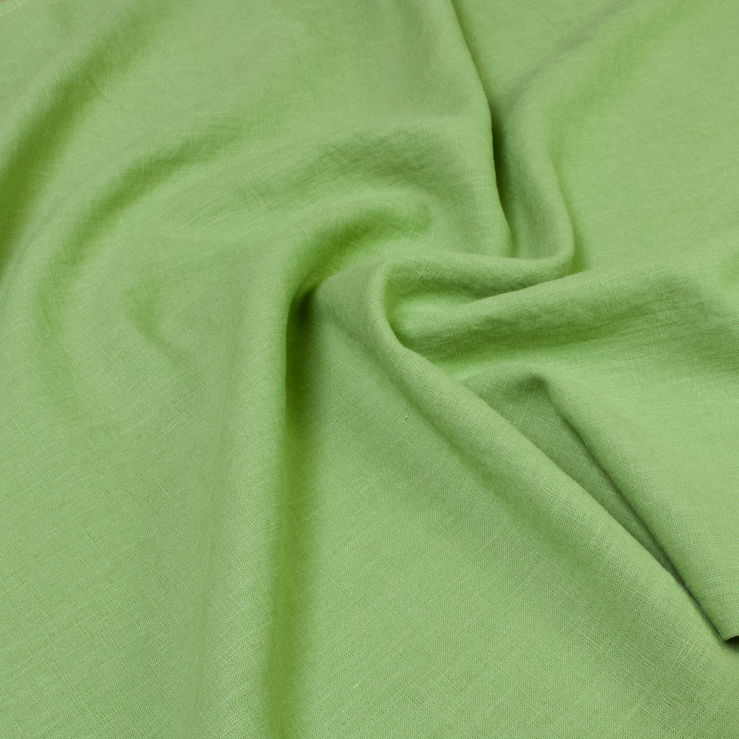 Washed Linen in Green