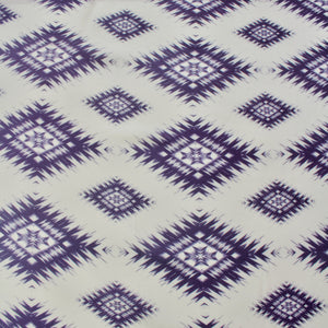 Fine Woven Viscose with Ikat Design