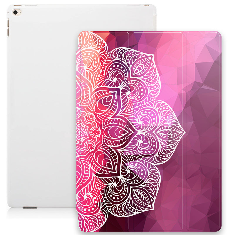 Geometric Mandala Smart Tablet Case - Red