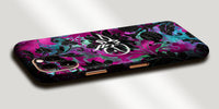 Floral Jungle Print Decal Skin With Personalised Arabic Name Phone Wrap