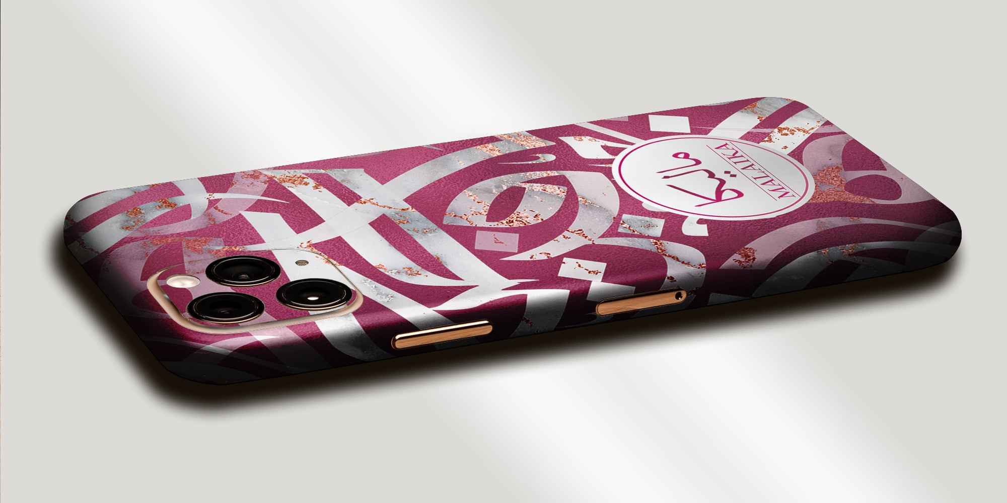 Arabic Calligraphy by Asad Decal Skin With Personalised Arabic Name Phone Wrap  - Pink