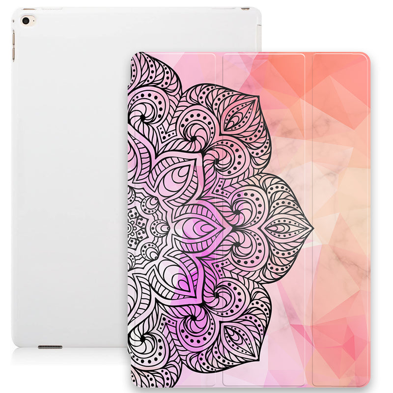 Geometric Mandala Smart Tablet Case - Marble Pastle