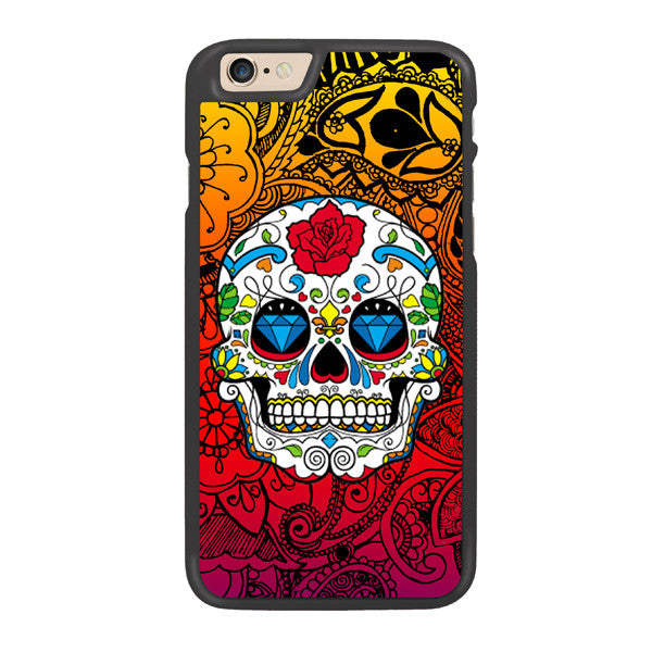 Candy Sugar Skulls Designer Hard Back Case by Simran - Zing Cases