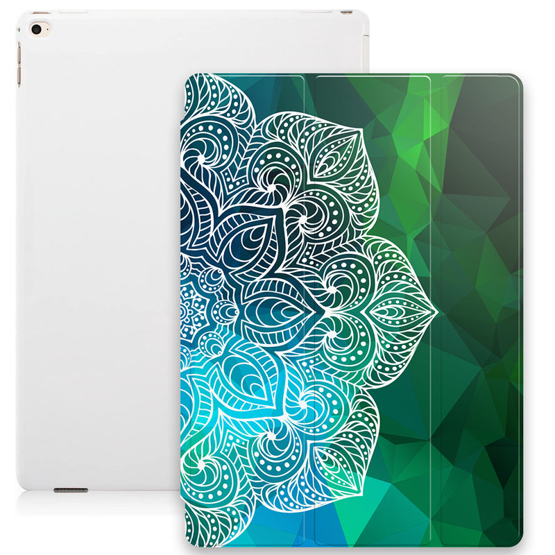 Geometric Mandala Smart Tablet Case - Green