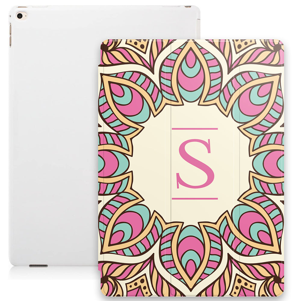 Floral Mandala with Personalised Initial Smart Case