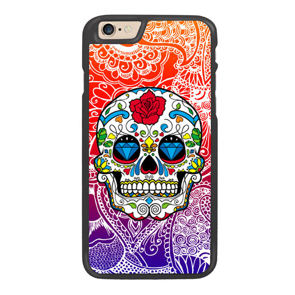 Candy Sugar Skulls Designer Hard Back Case by Simran - Orange / Purple - Zing Cases