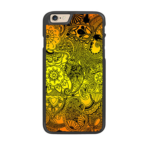 Yellow Summer Flowers Designer Hard Back Case by Simran - Zing Cases
