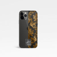 Damask Half Face with Personalised Arabic Name Clear Phone Case