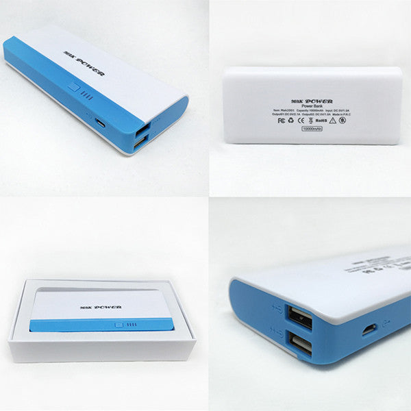 Mak Power 10000 mAh Portable Dual USB Power Bank Charger - Zing Cases  - 1