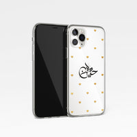 Golden Hearts with Arabic Signature Calligraphy Clear Phone Case
