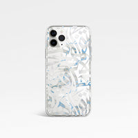 Blue Marble Calligraphy Phone Clear Case by Asad