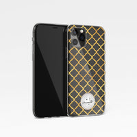 Moroccan Print with Personalised Arabic Name Clear Phone Case