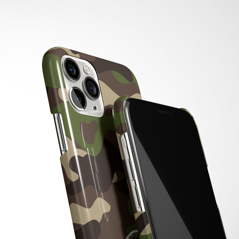 Camouflage Case with Personalised Arabic Name Phone Case - Green
