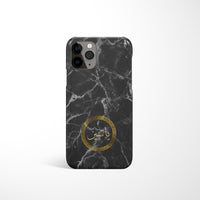 Marble with Personalised Arabic Name Phone Case - Black