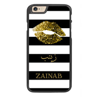 Golden Kiss Personalized Arabic Calligraphy Text Designer Phone Case - Zing Cases  - 1
